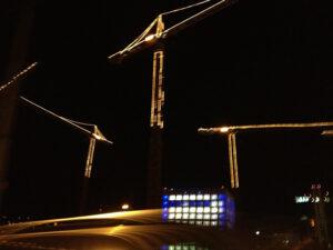 Stuttgart Library bei Nacht